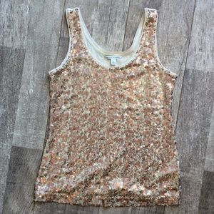 Banana Republic Sequined Tank Size Small